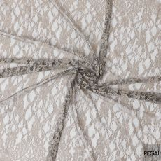 Black and pale brown two tone French lace fabric in floral design-D6526