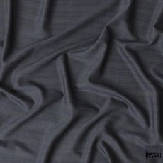 Lava grey and baby blue Super 150's Italian wool and cashmere suiting fabric in checks design-D6861