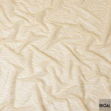 Light gold synthetic lace fabric in Abstract design-D7589