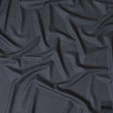 Aegean blue Super 150's  English All wool suiting fabric in self design-D7969