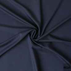 Navy blue two tone plain Super 140's blended Italian wool suiting fabric