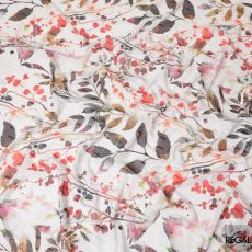 Pearl river grey cotton voile fabric with same tone jacquard having multicolor print in floral design-D8252