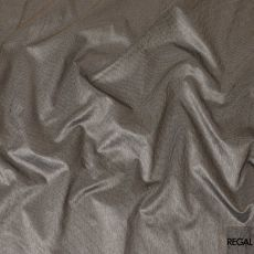 Olive green, black and white synthetic brocade fabric in checks design-D7656