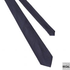 Men's 100% polyester Navy blue tie with purple and light pink in abstract design