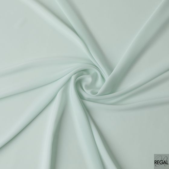 Tiffany blue plain synthetic butter crepe fabric